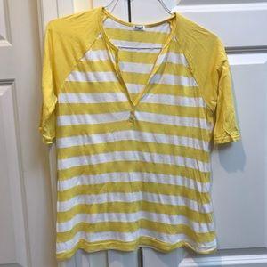 Splendid Yellow Striped Top